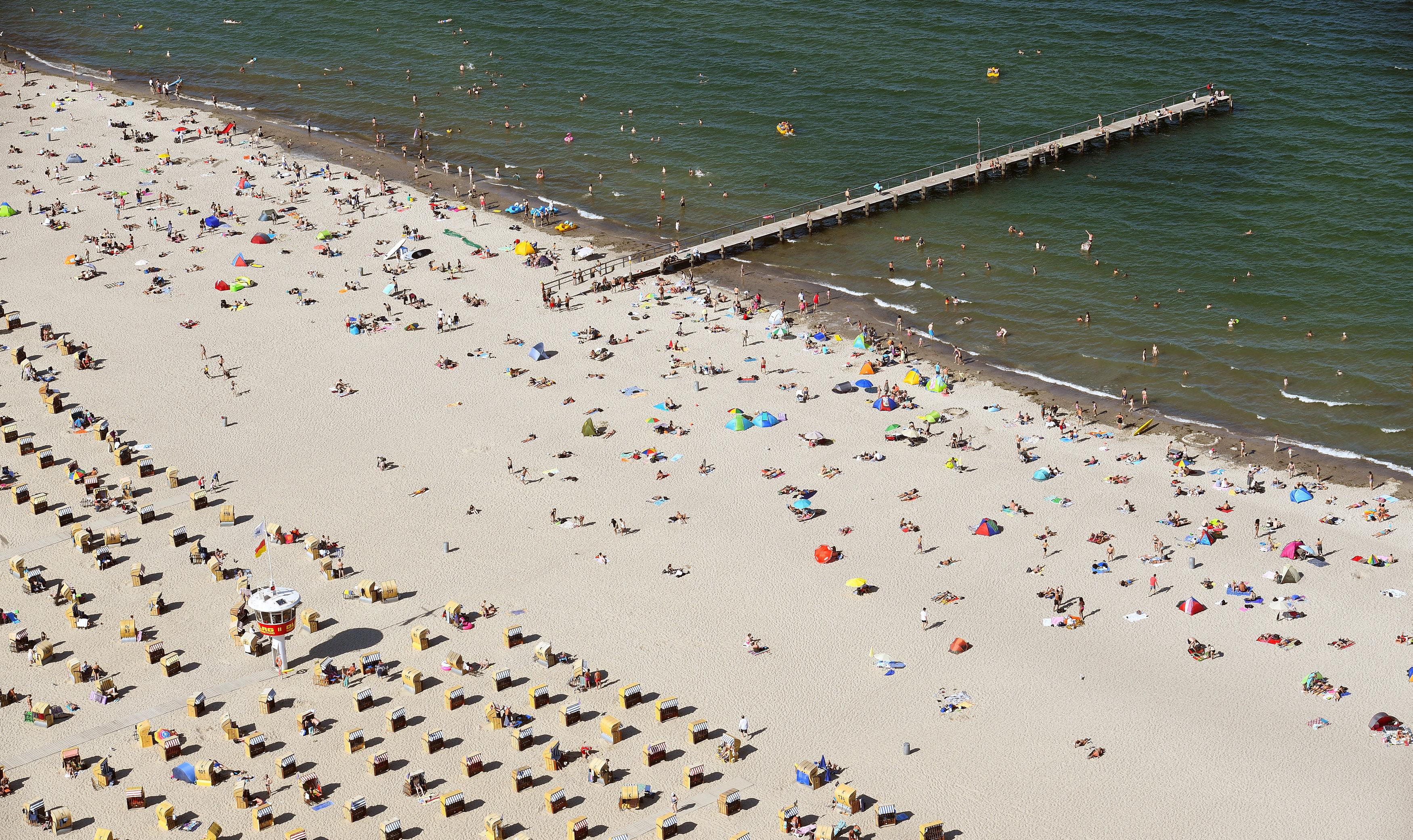 جانب من شواطئ بحر البلطيق