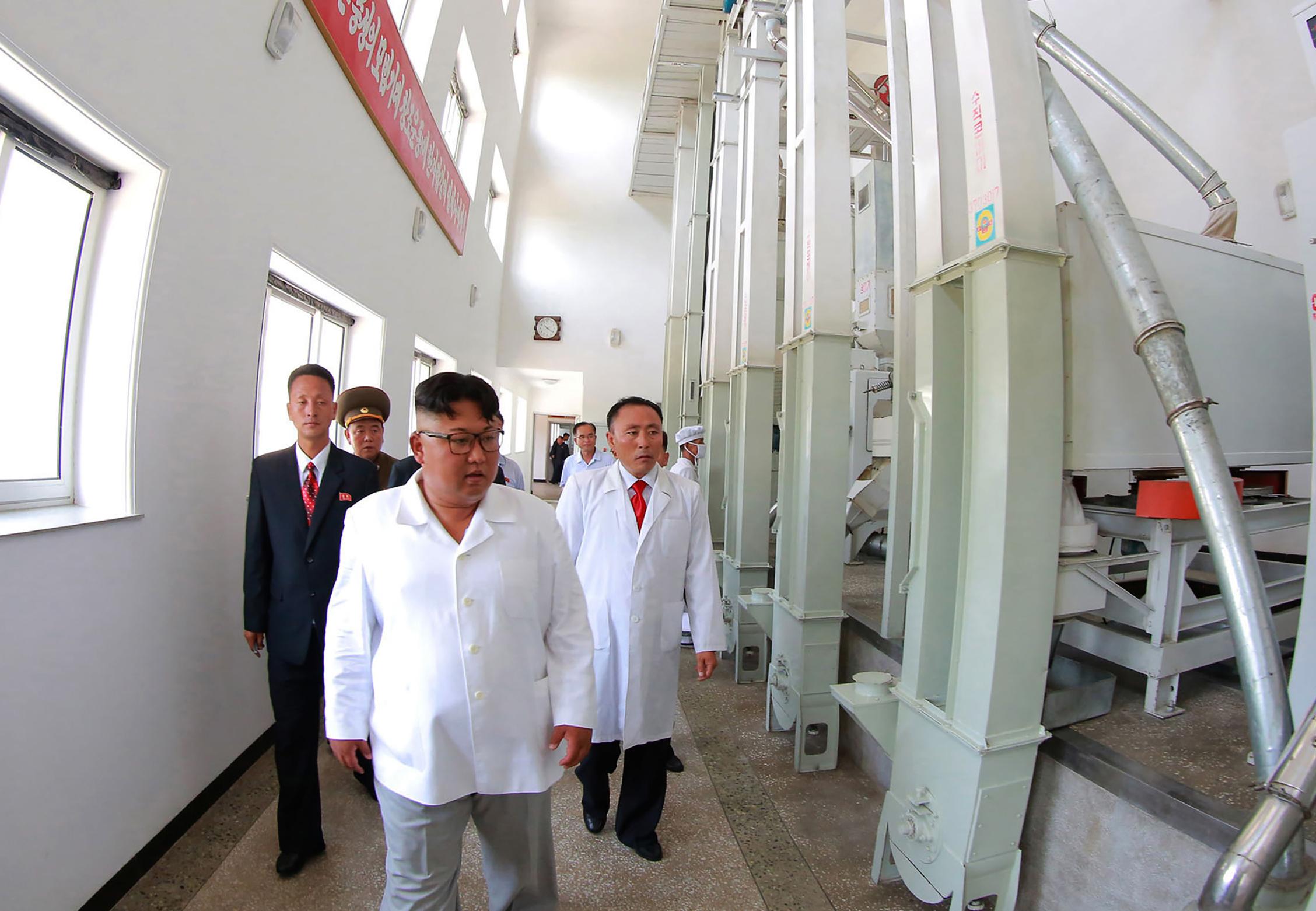 جانب من زيارة زعيم كوريا الشمالية