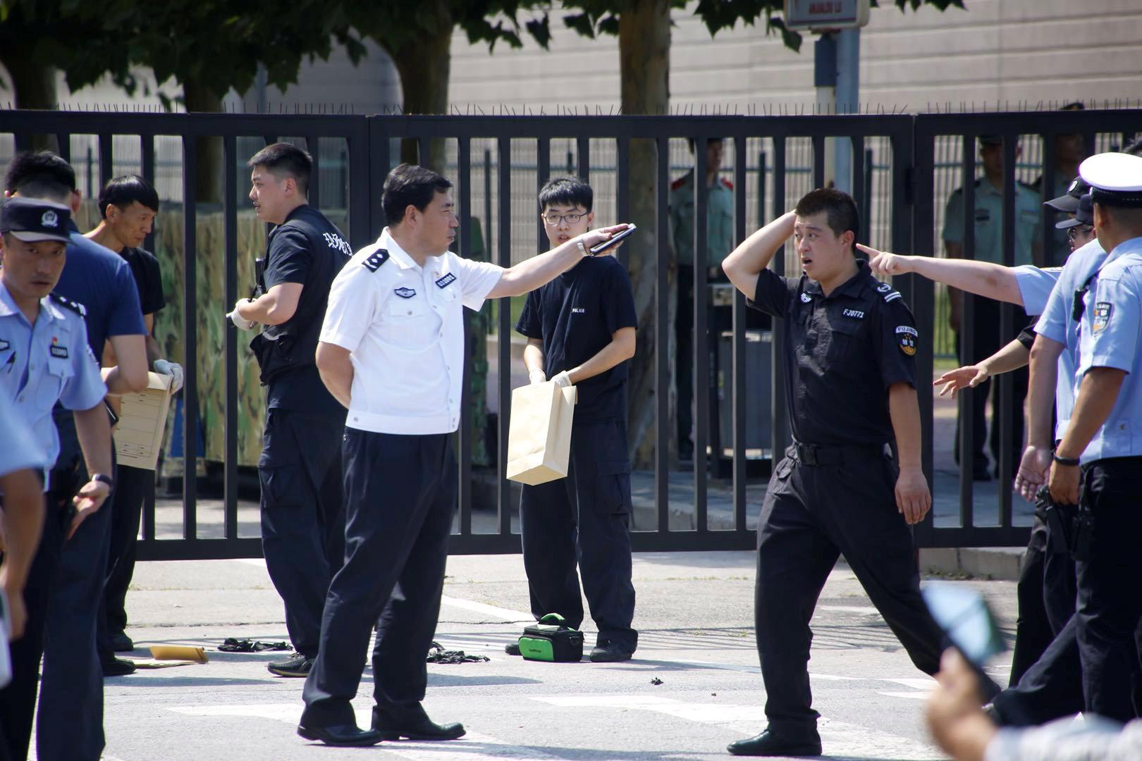 انتشار الشرطة الصينية