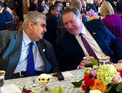 وزير خارجية البحرين ونظيره الأمريكي