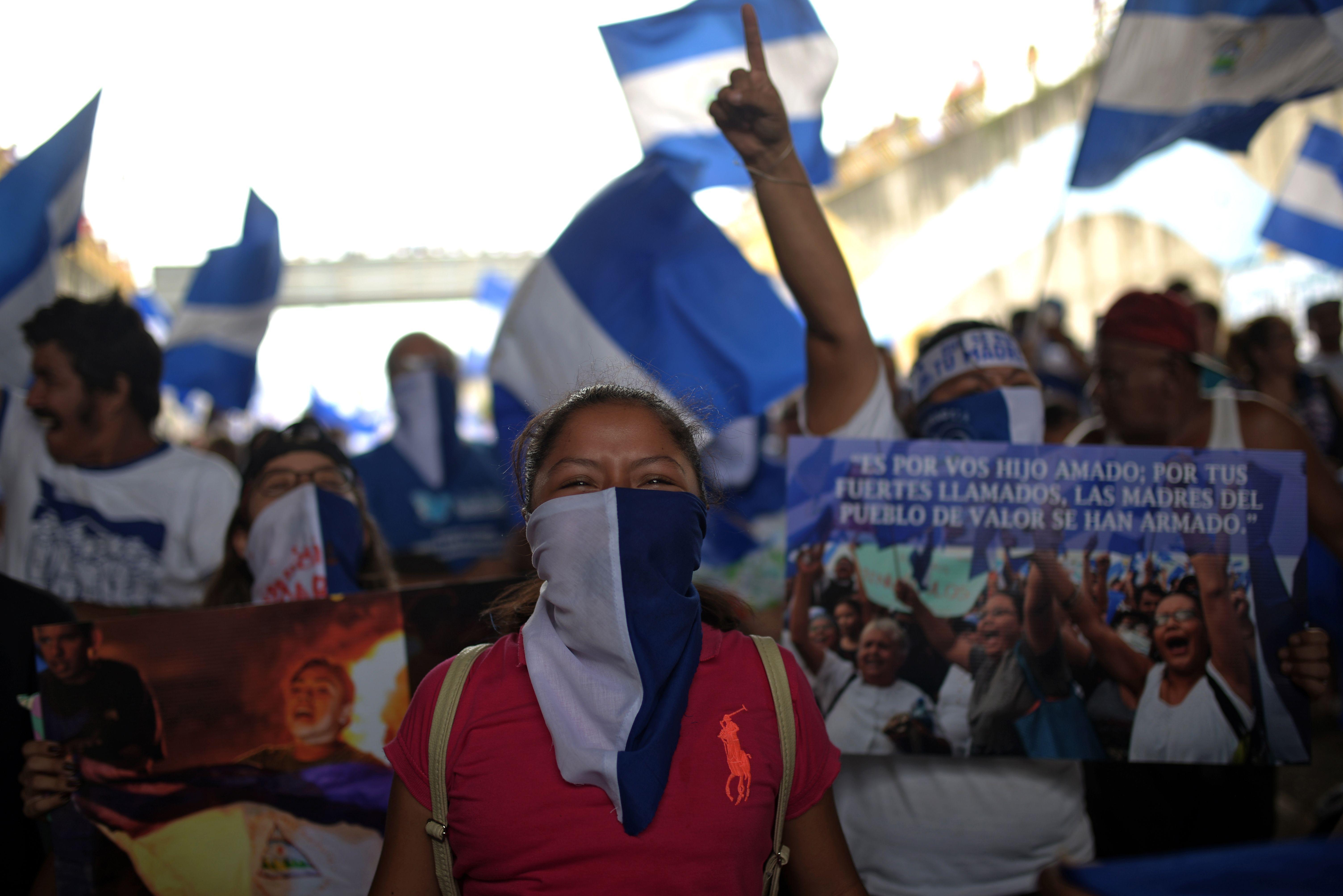 إحدى المتظاهرات