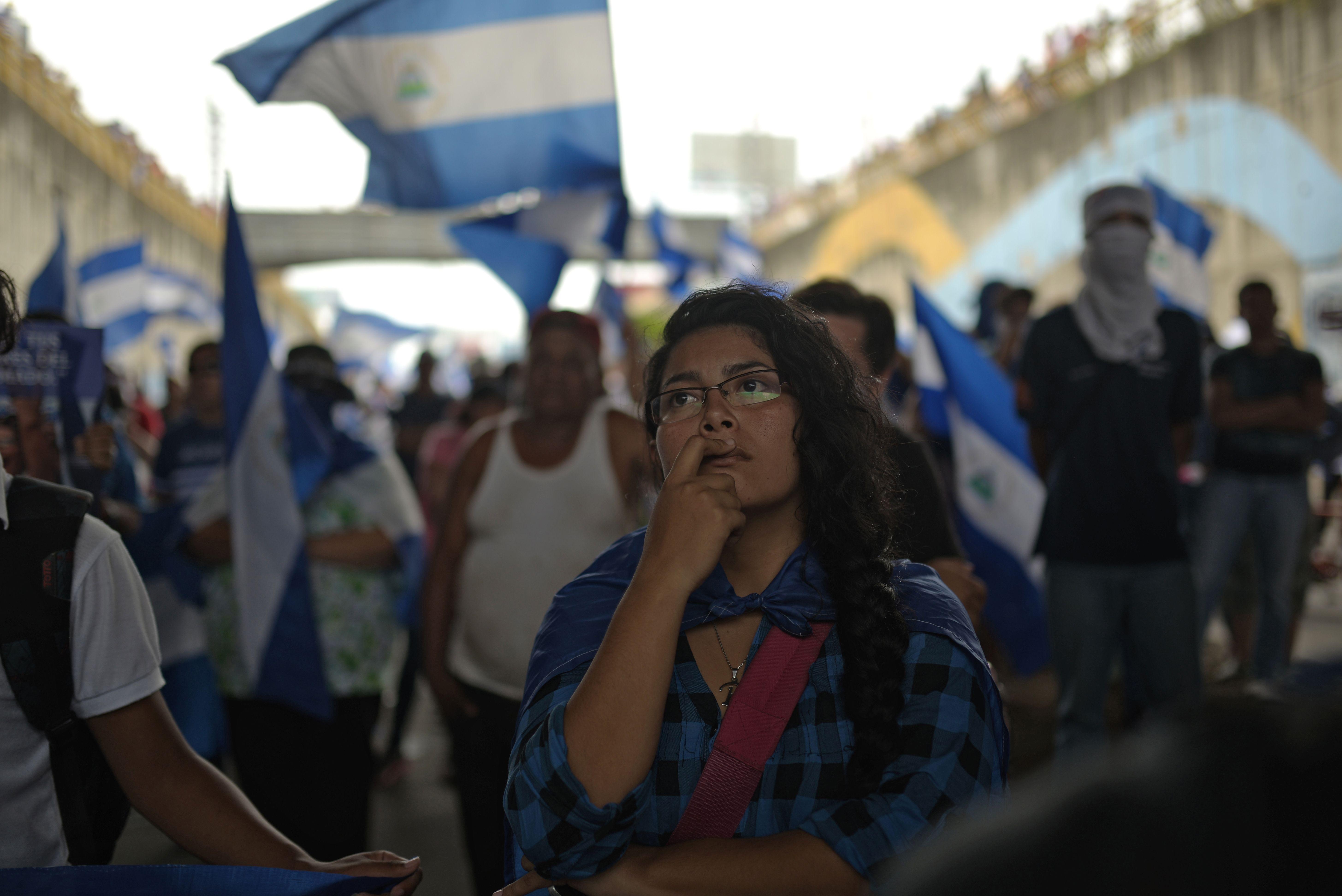 احتجاجات بأعلام نيكاراجوا
