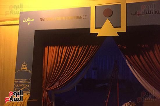 اللمسات النهائية بجامعة القاهرة لاستضافة المؤتمر السادس للشباب (5)