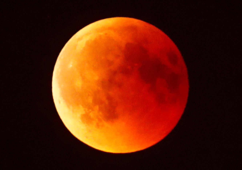 خسوف القمر فى سماء فرانكفورت