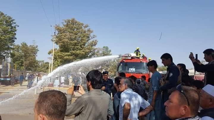 جانب من فض الاحتجاجات المناهضة لاردوغان فى افغانستان
