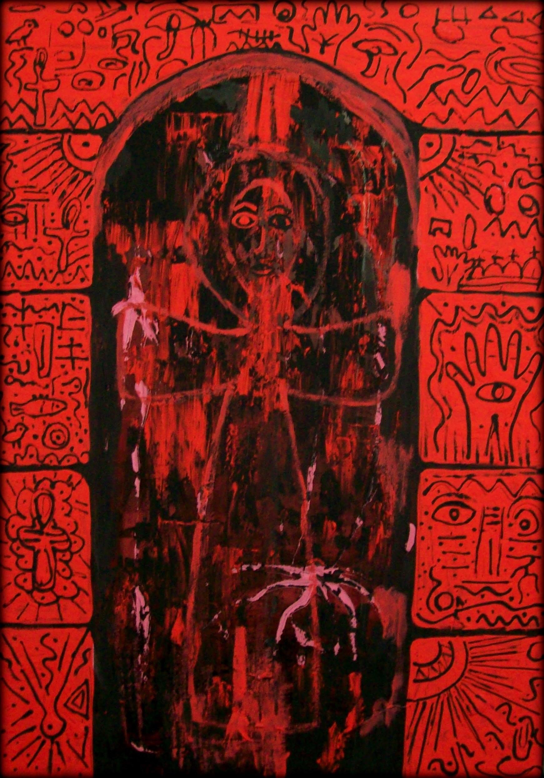 عمل فنى للدكتورة زينب نور فى معرض سابق 2