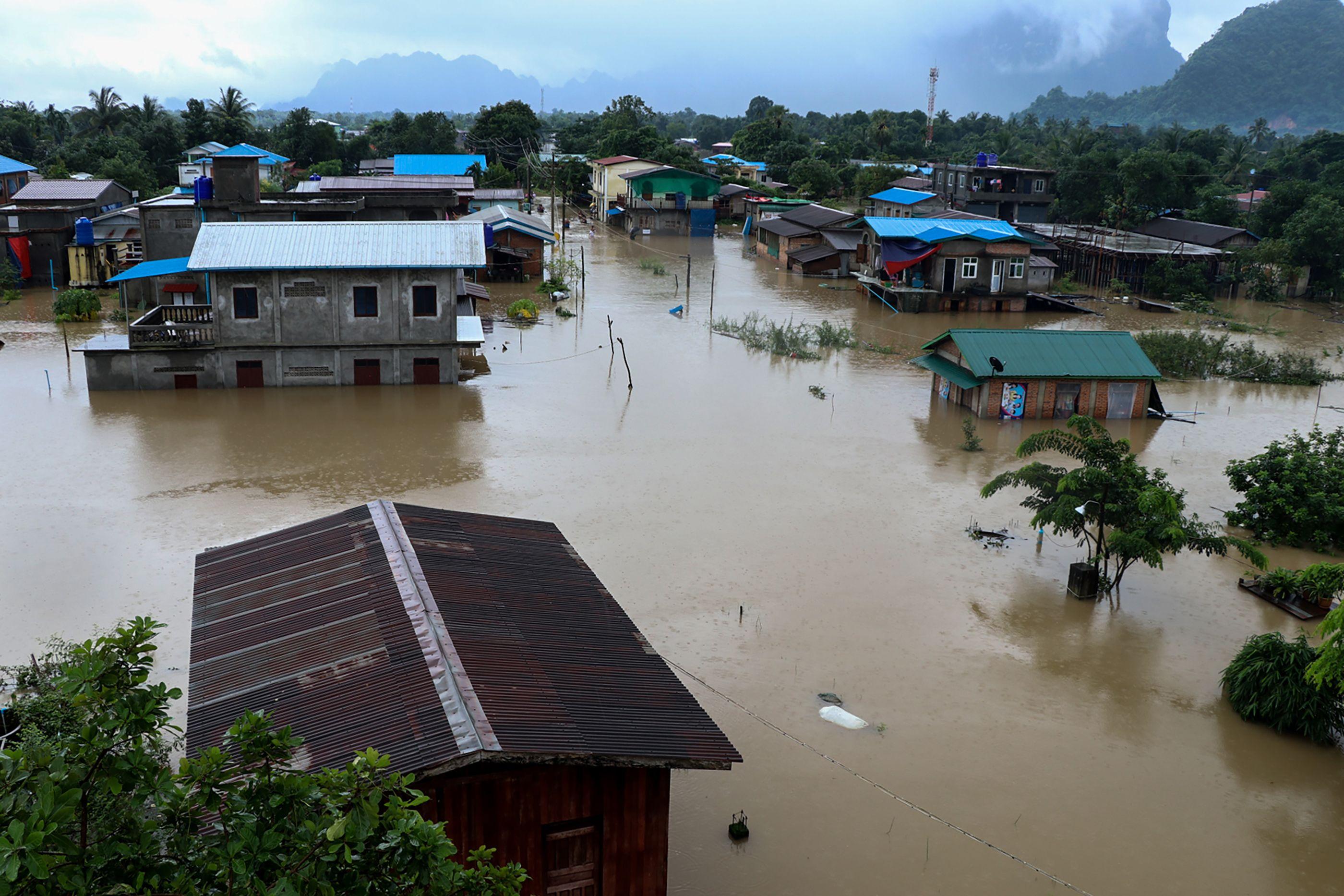 الفيضانات فى ميانمار