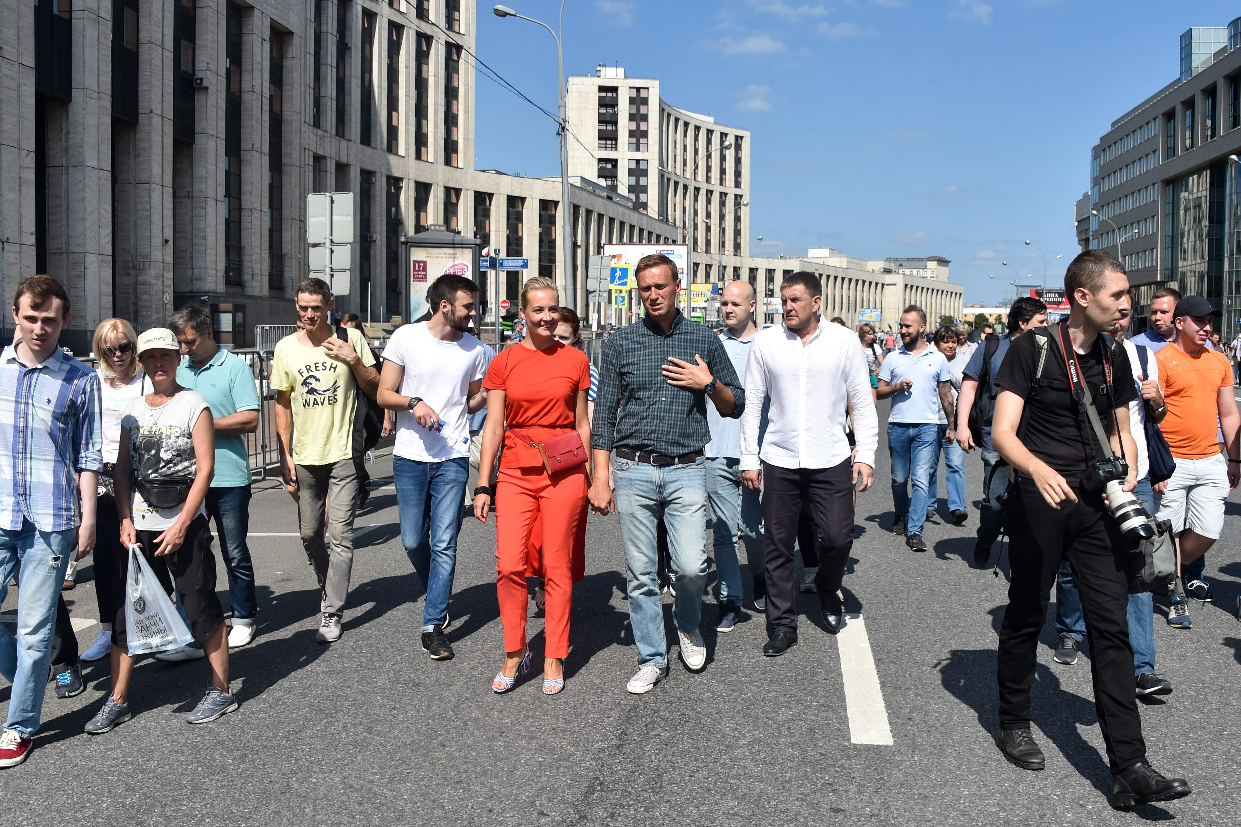 جانب من مظاهرات روسيا