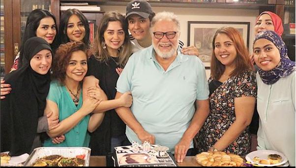هبة مجدى تحتفل بعيد ميلادها مع يحيى الفخرانى