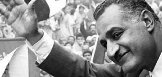 الزعيم الراحل جمال عبد الناصر