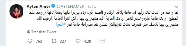 تغريده ايتن عامر