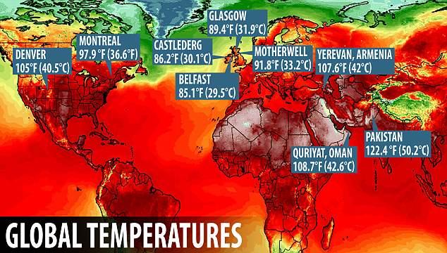 حرارة العالم