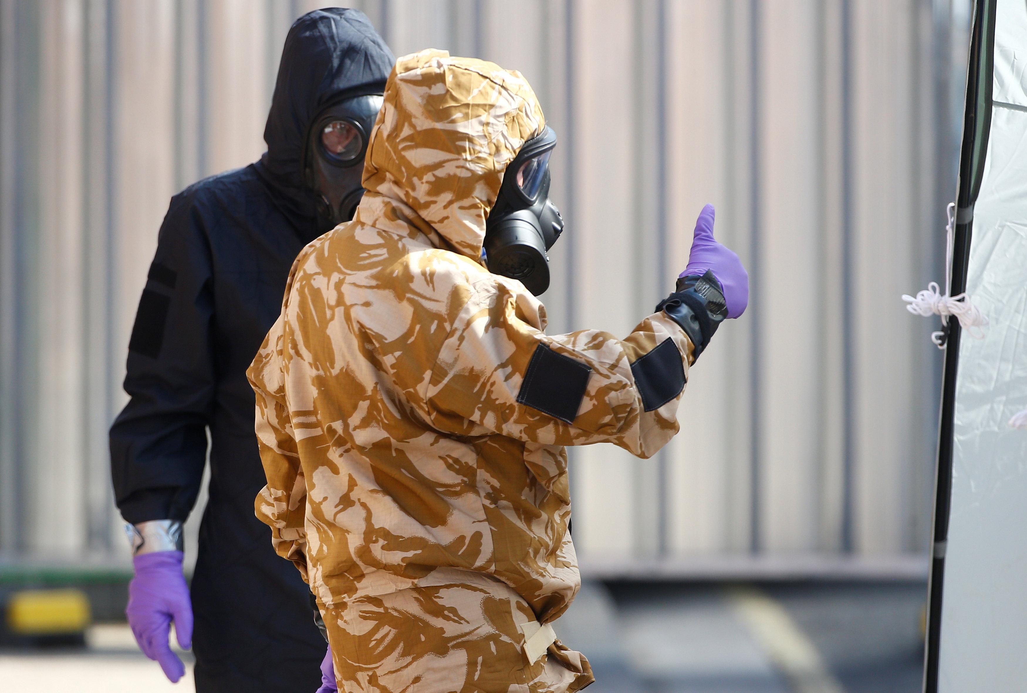 الشرطة البريطانية تفحص منطقة الغاز