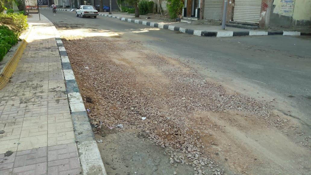 إصلاح الهبوط الأرضى بمدينة دمنهور (1)