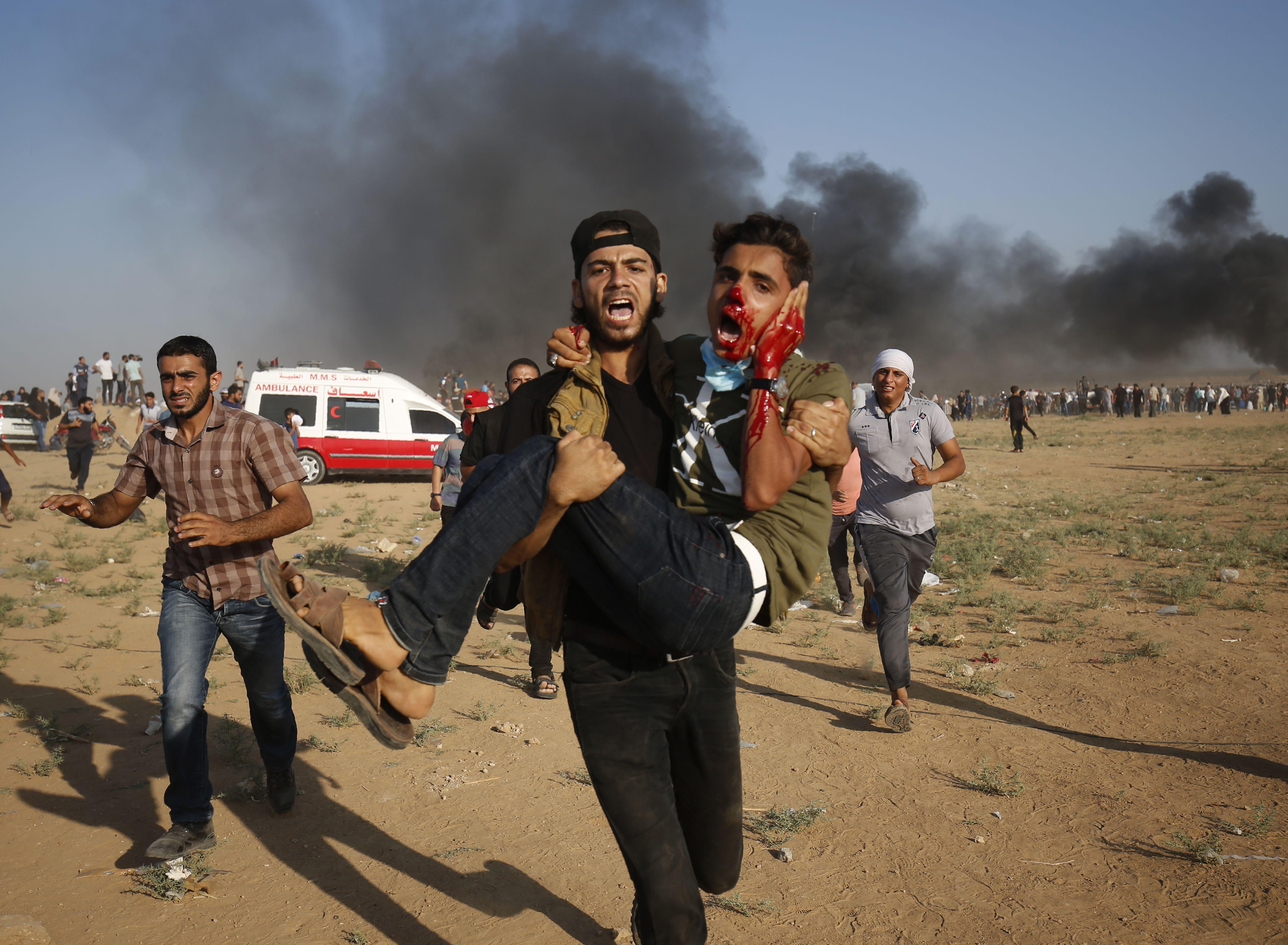 مصاب فى غزة
