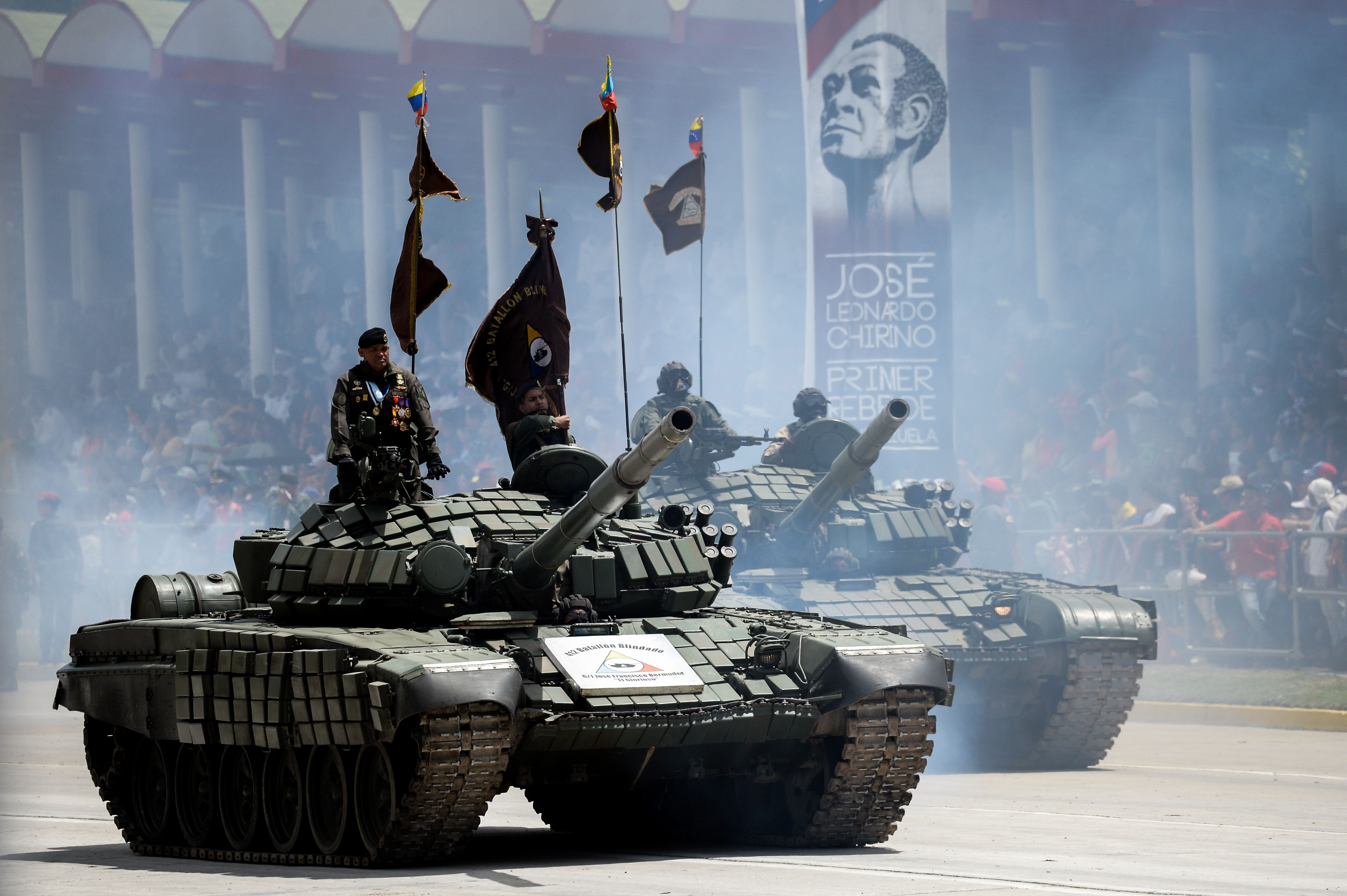 دبابات تشارك فى الاستعراض العسكرى
