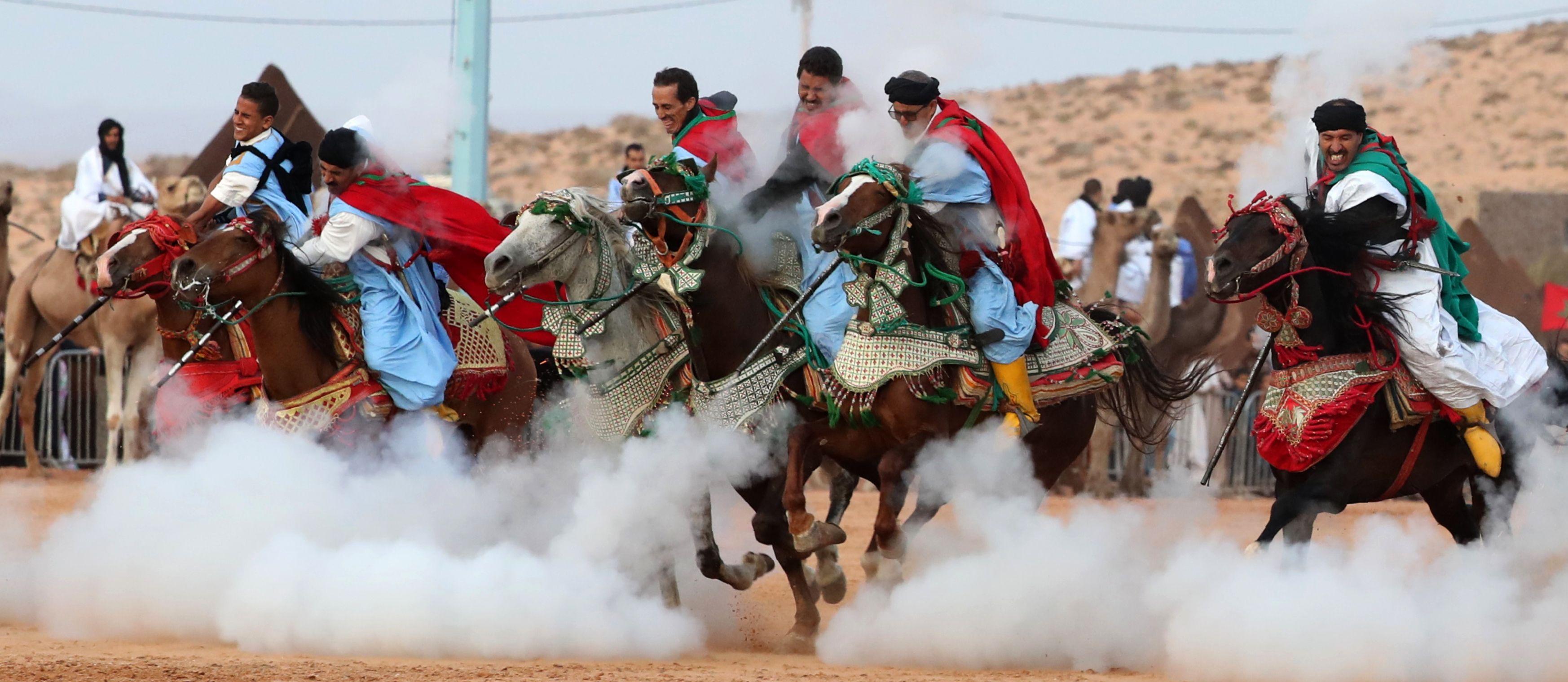 ركوب الخيول فى موسم طانطان