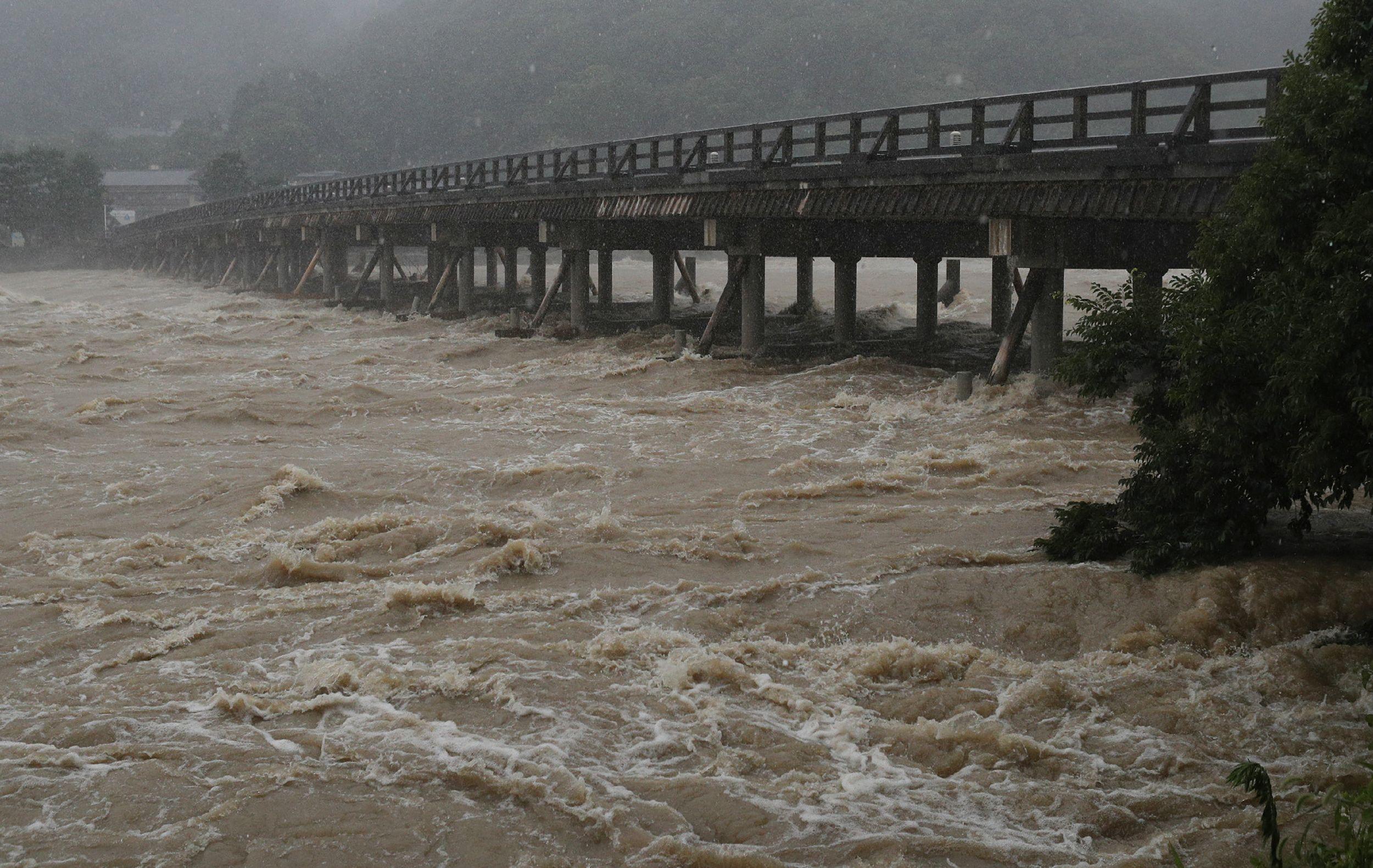 الفيضانات في اليابان