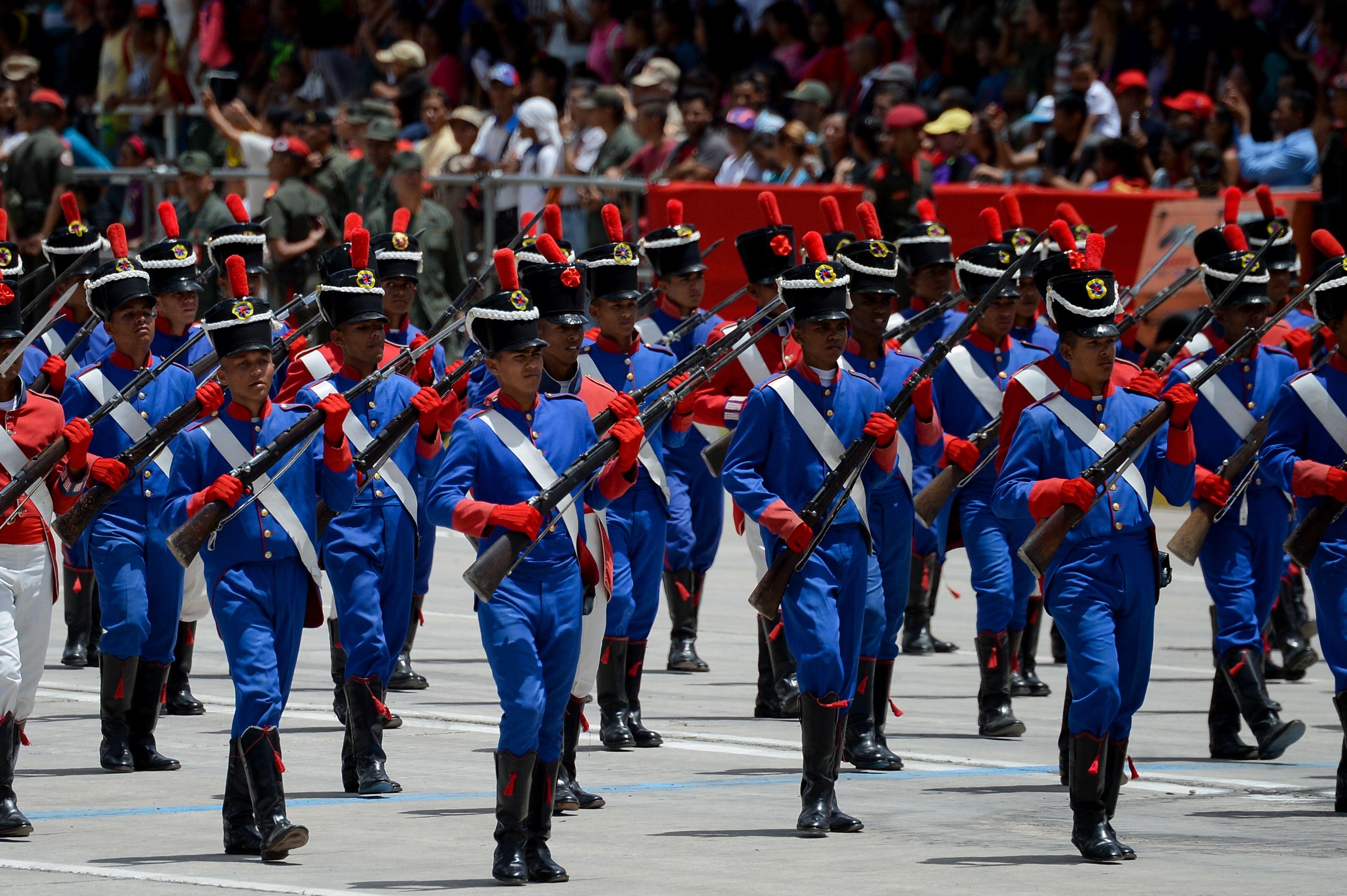 استعراض عسكرى فى فنزويلا