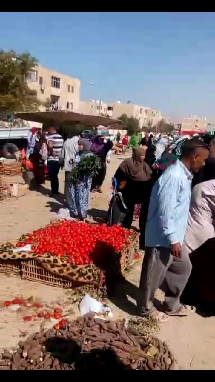 رئيس مدينة طور سيناء يتفقد سوق حى بدر (3)