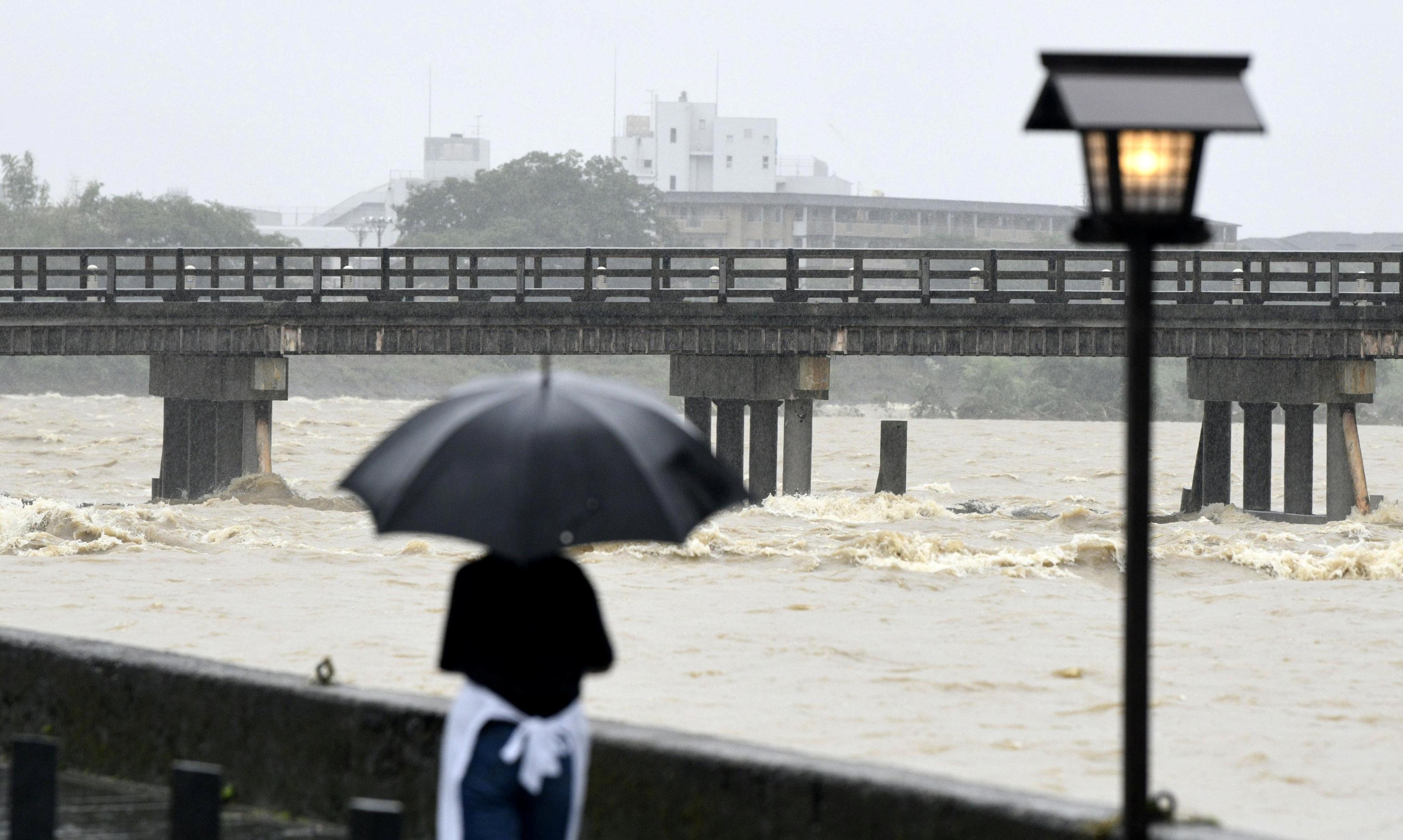 جانب من الفيضان فى اليابان