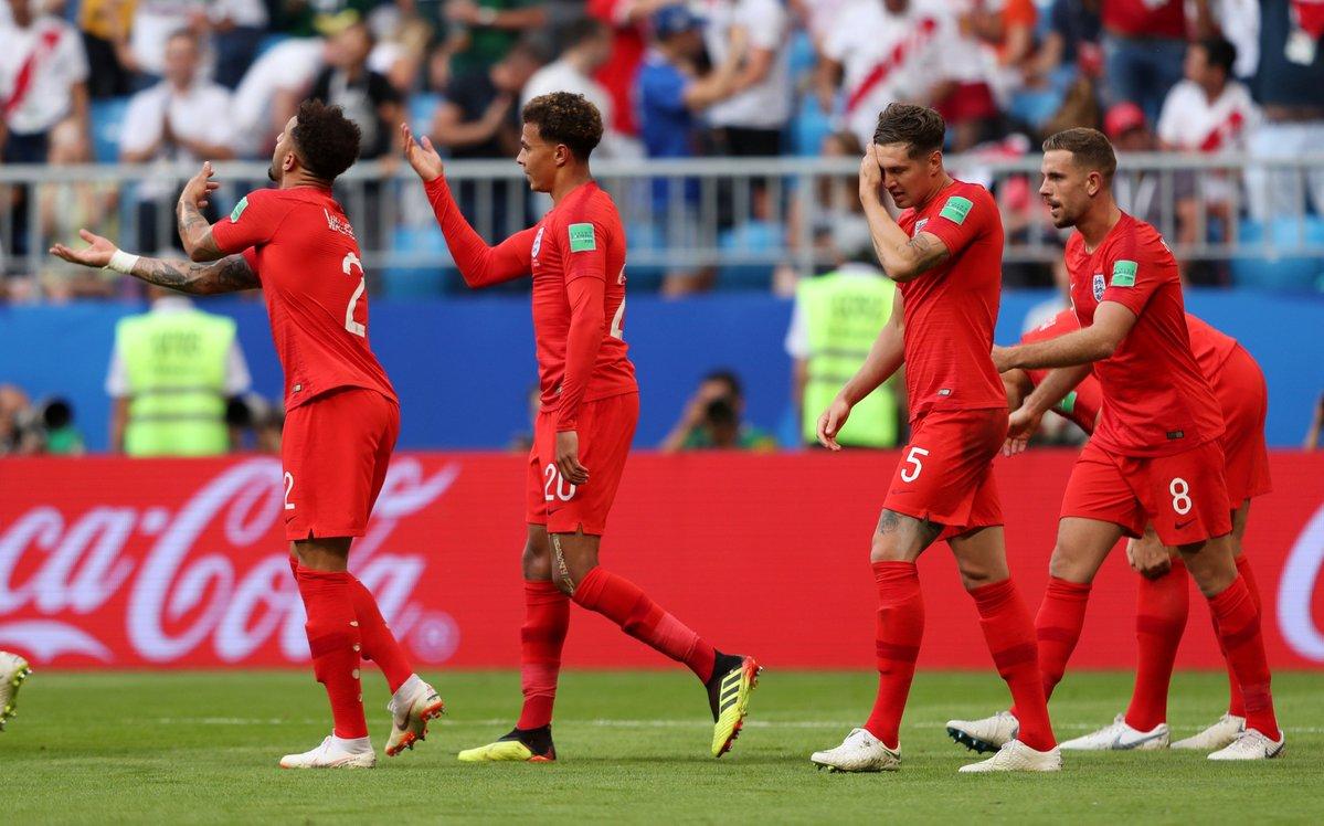 احتفال منتخب إنجلترا