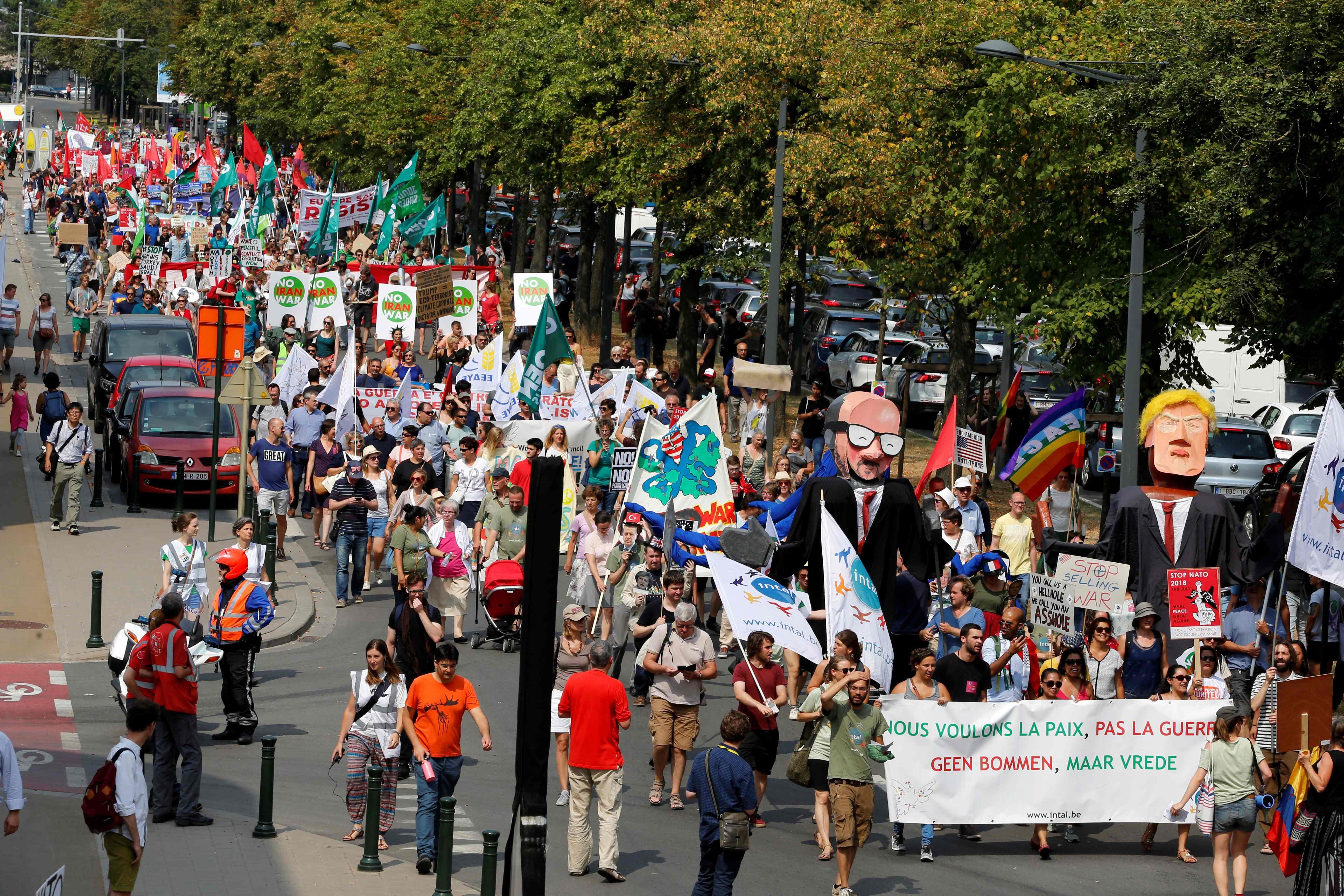 المسيرة فى بروكسل