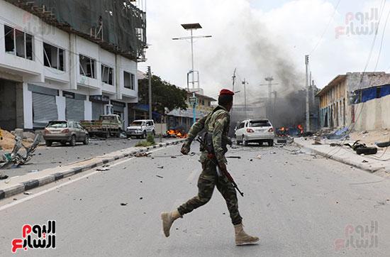 جانب-من-انفجار-فى-الصومال