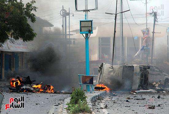 انفجار-ثان-أمام-مبنى-للشرطة-الصومالية-فى-مقديشيو