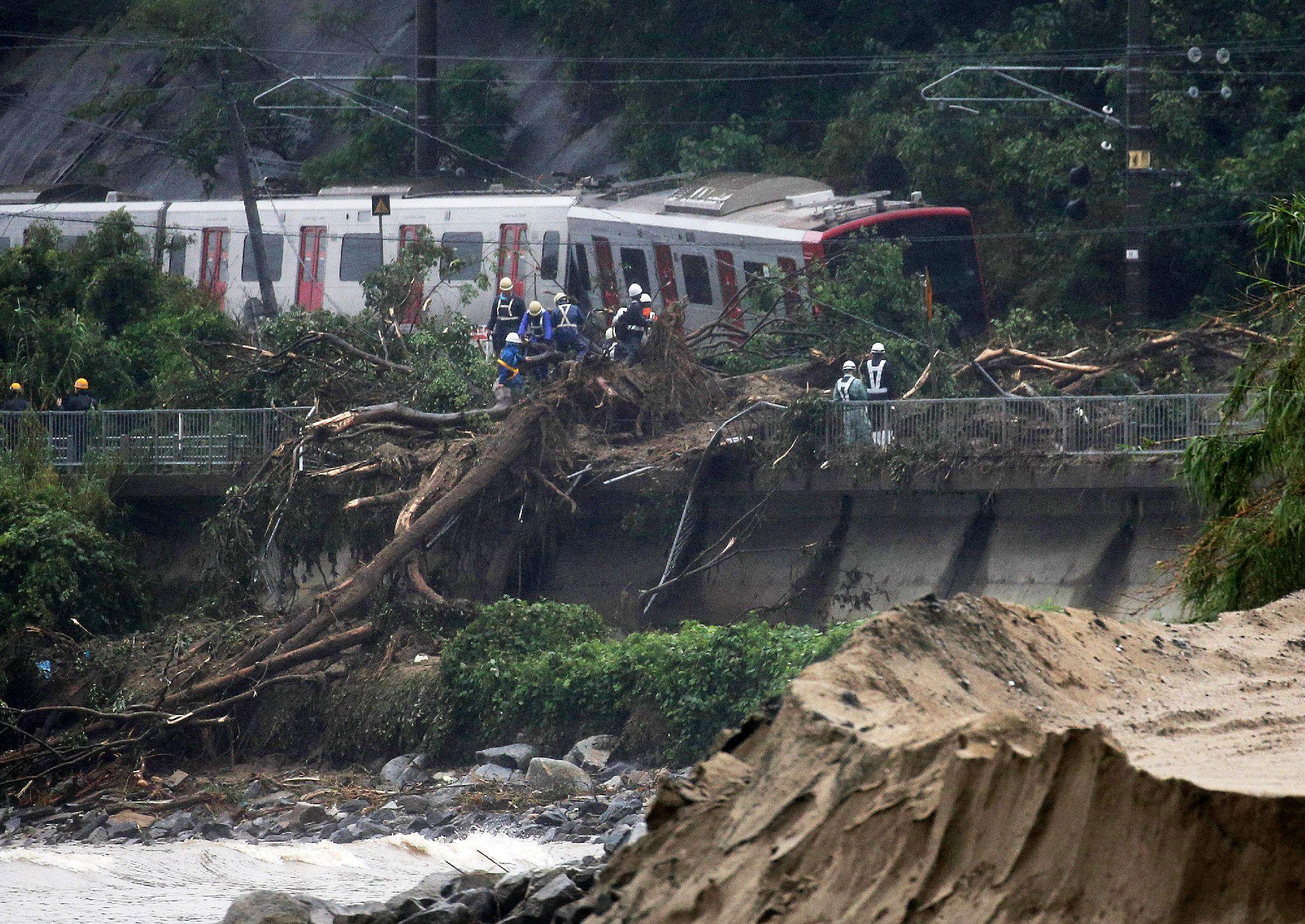 انهيار ارضي في اليابان