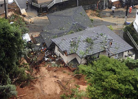 جانب من أمطار اليابان