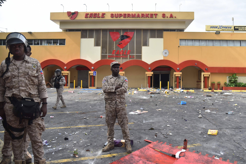 انتشار قوات الأمن فى هايتى