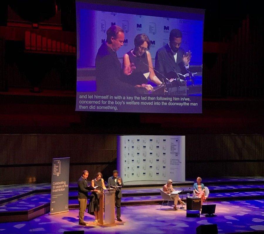 جانب آخر من حفل جائزة مان بوكر الذهبية للرواية