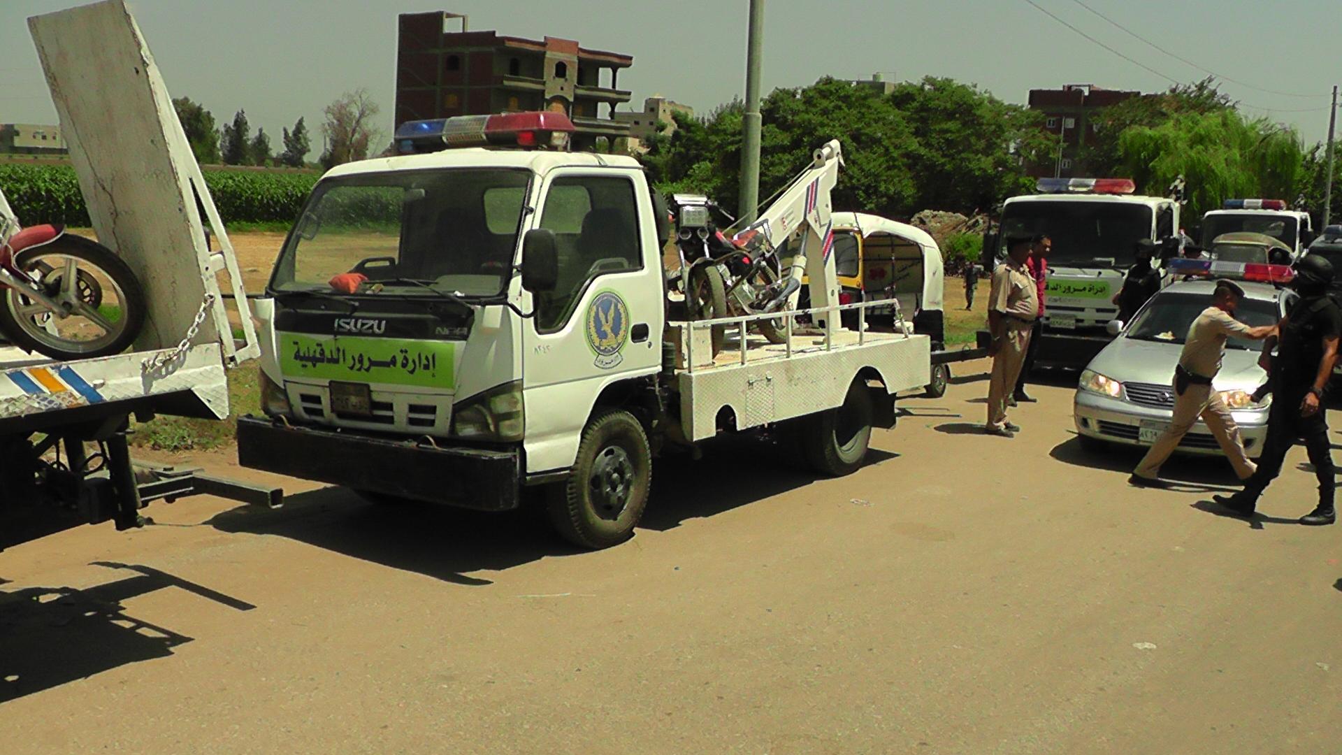 مدير امن الدقهلية اثناء الحملة المرورية