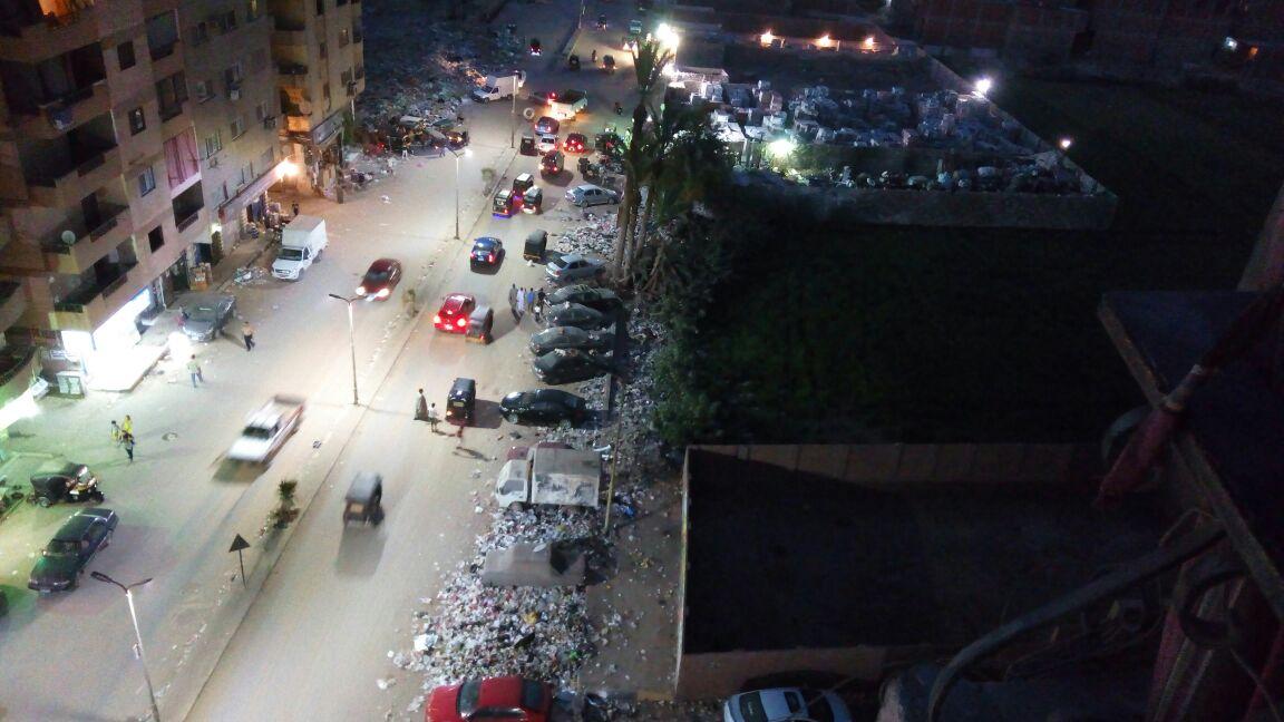 انتشار القمامة بشارع العروبة