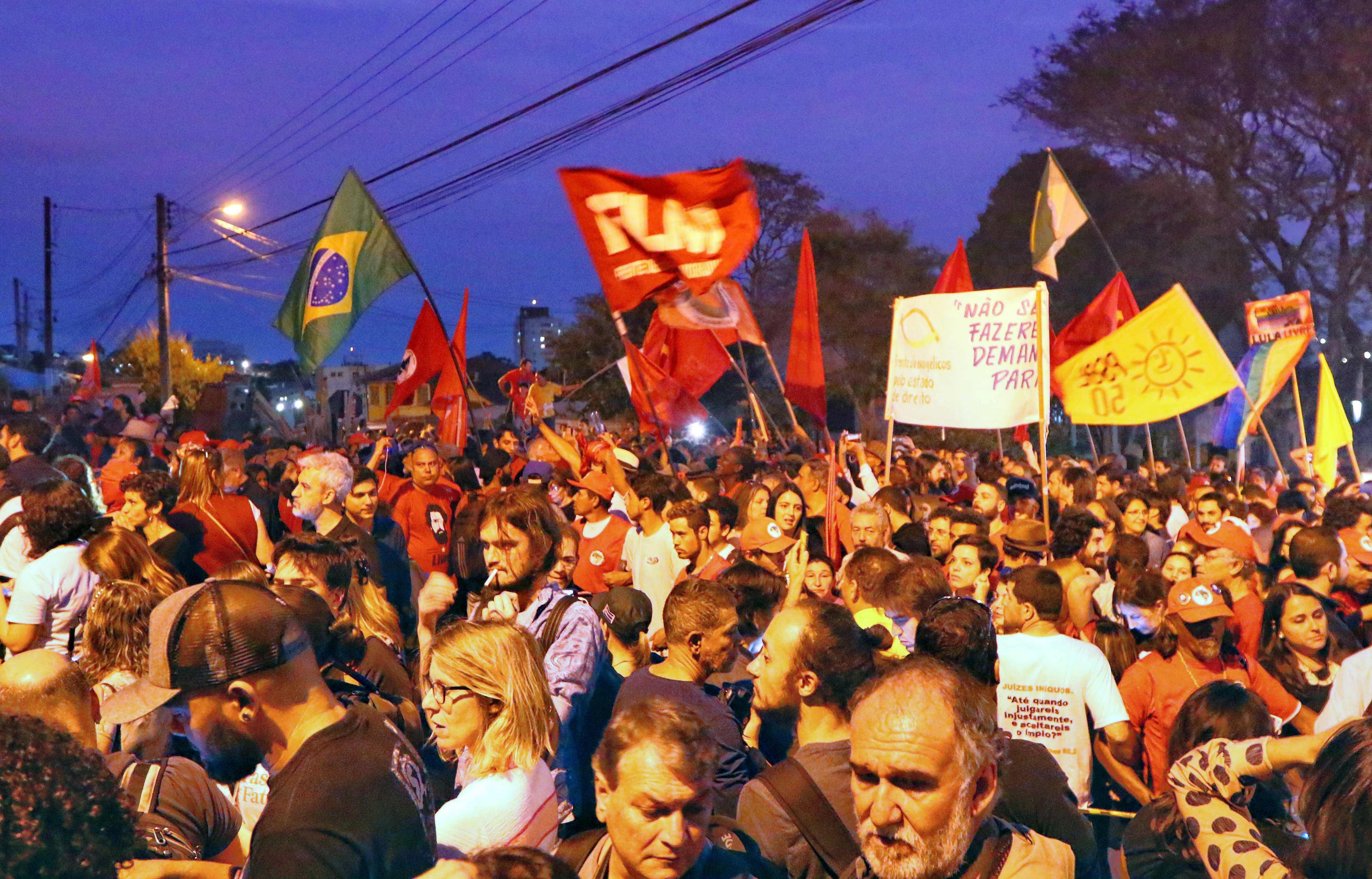 مظاهرات أنصار لولا دا سيلفا