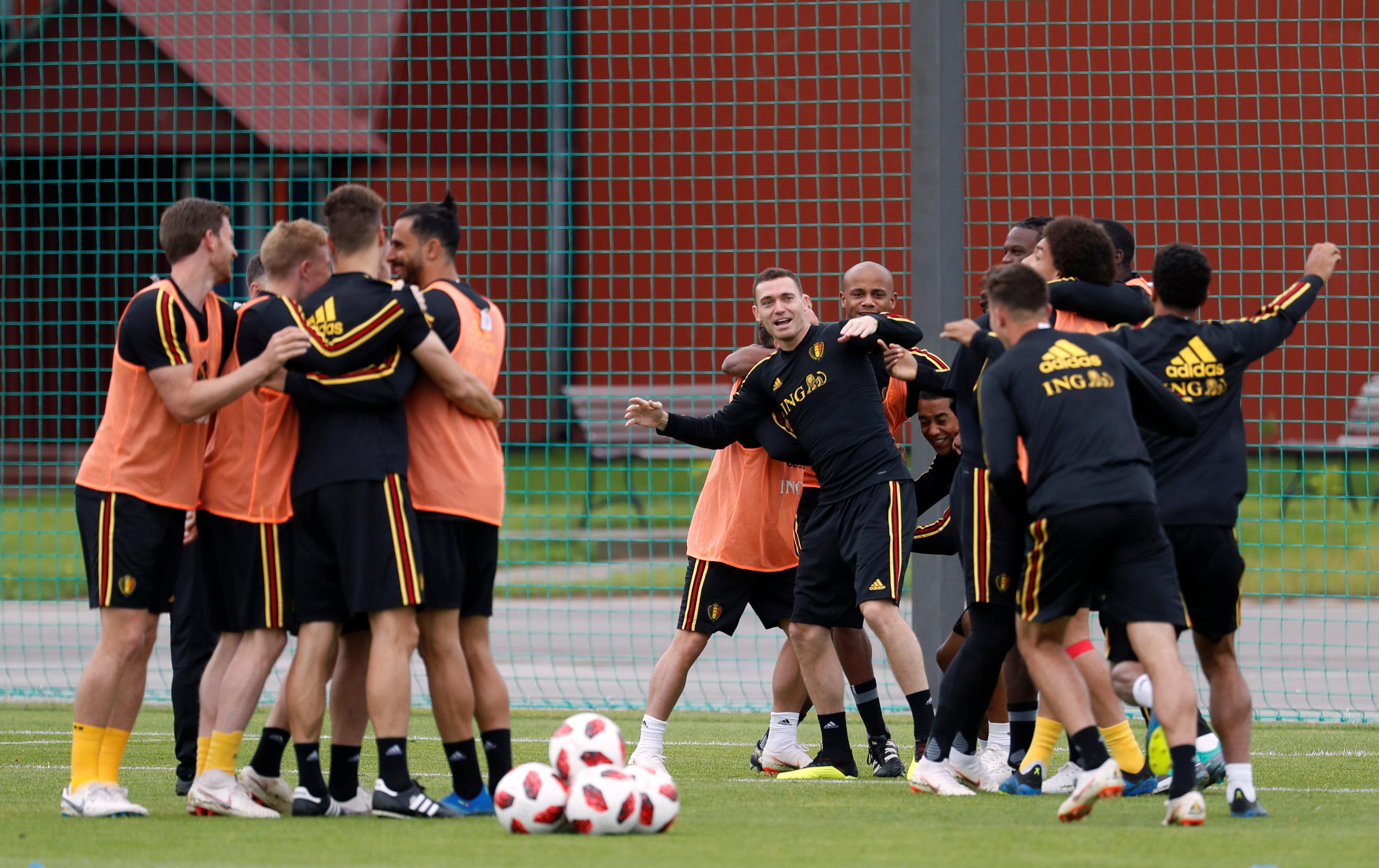 صور منتخب بلجيكا يجرى تدريبات مكثفة استعدادا لـ نصف نهائى كأس العالم اليوم السابع