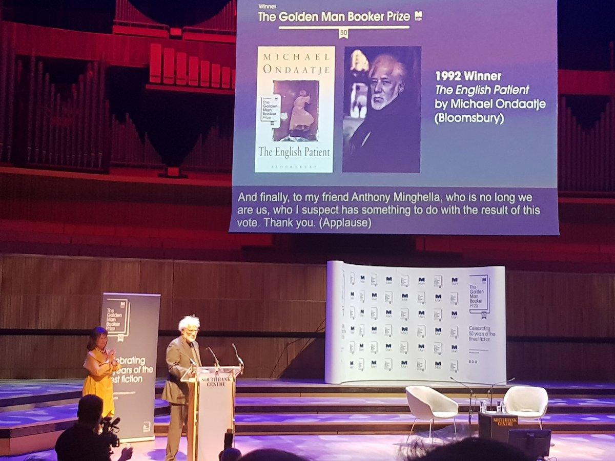 مايكل أونداتجى  يعلق على فوز رواية المريض الإنجليزى بجائزة مان بوكر الذهبية