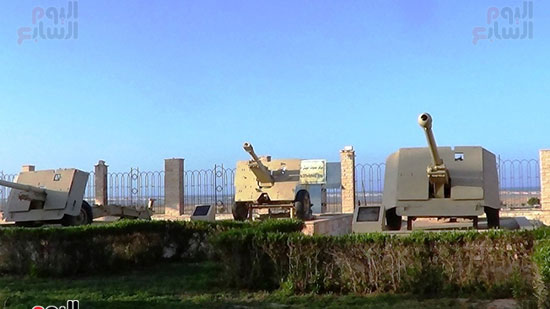 الساحة المكشوفة لعرض الأسلحة متحف العلمين