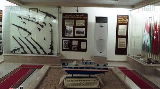 جانب من القاعة الجيش المصرى بمتحف العلمين