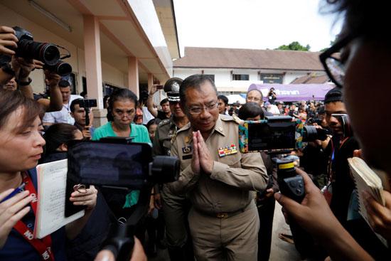 مؤتمر صحفي لرئيس فرق الإنقاذ فى تايلاند