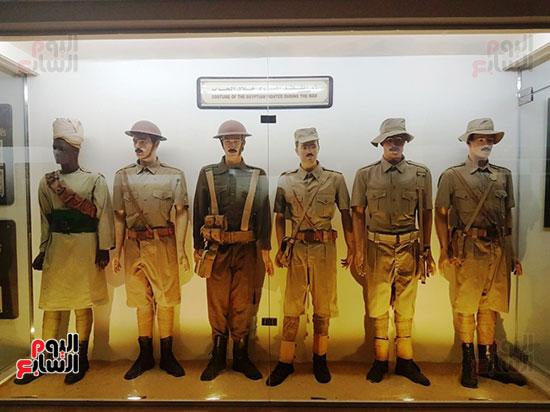 مجسمات لمقاتلين مصريين خلال الحرب العالمية
