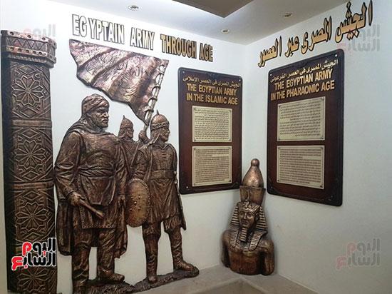 جانب من قاعة الجيش المصرى تحكى تاريخه عبر العصور