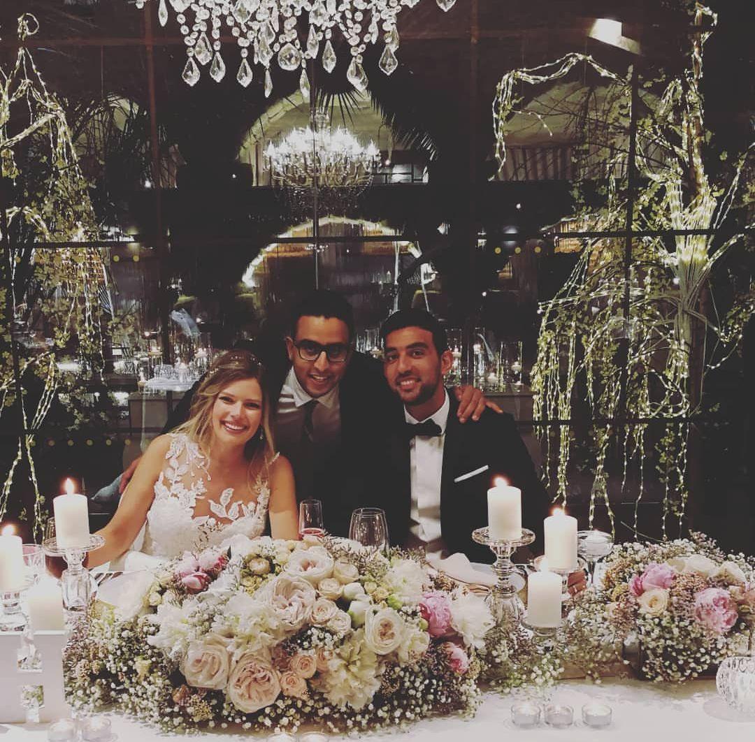 كوكا و زوجته فى حفلة زفافهما