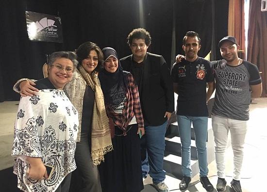 مصطفى خلال إحدى الفعاليات التى نظمها من خلال الحملة