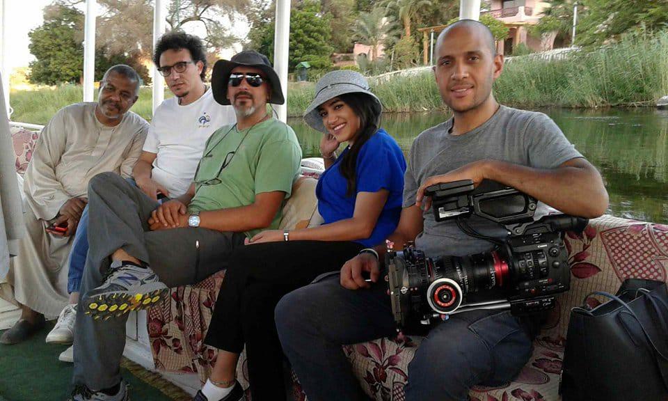 أعضاء الفريق خلال رحلة نيلية فى أسوان
