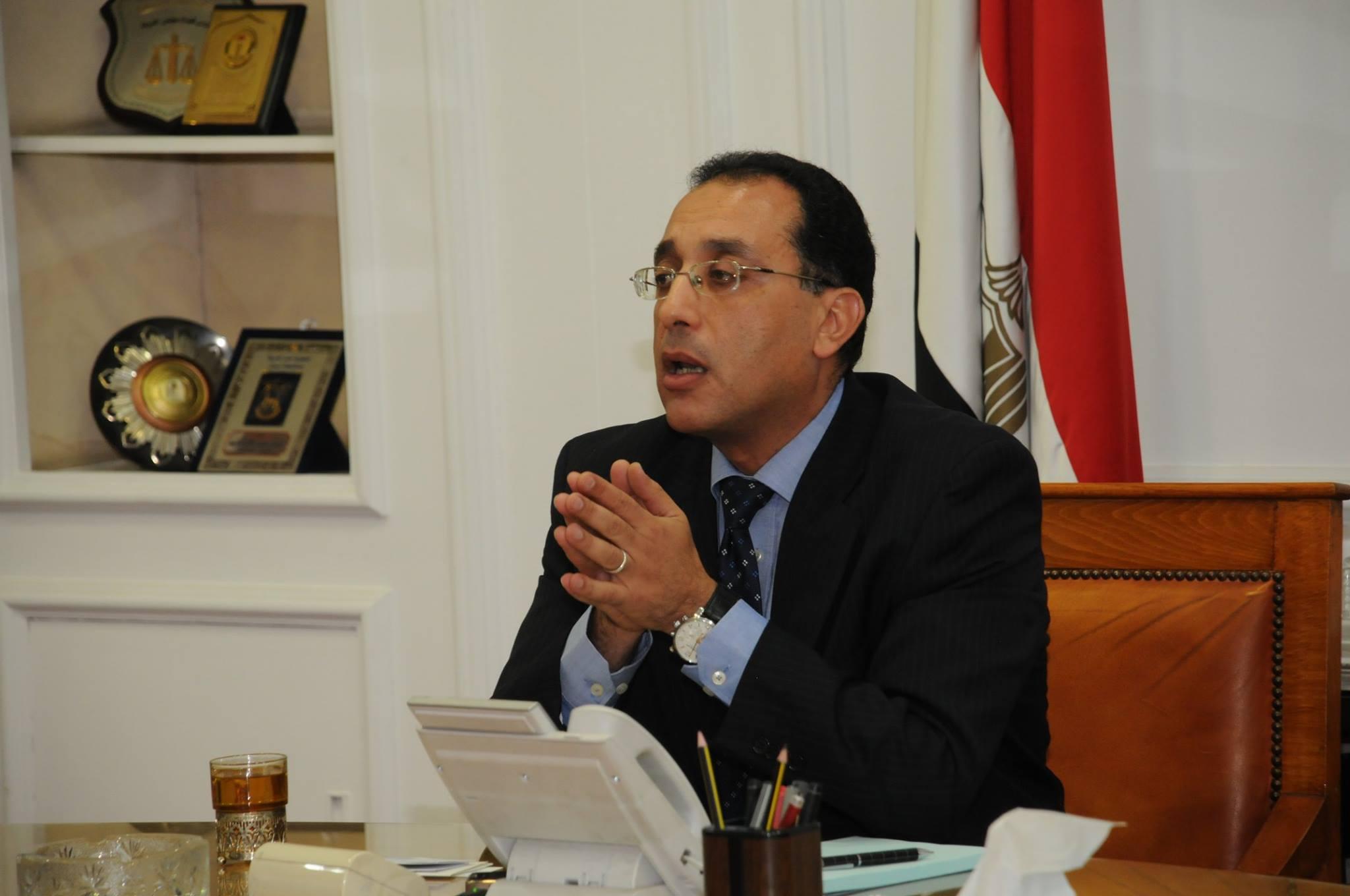مصطفى مدبولى رئيس الوزراء ووزير الاسكان