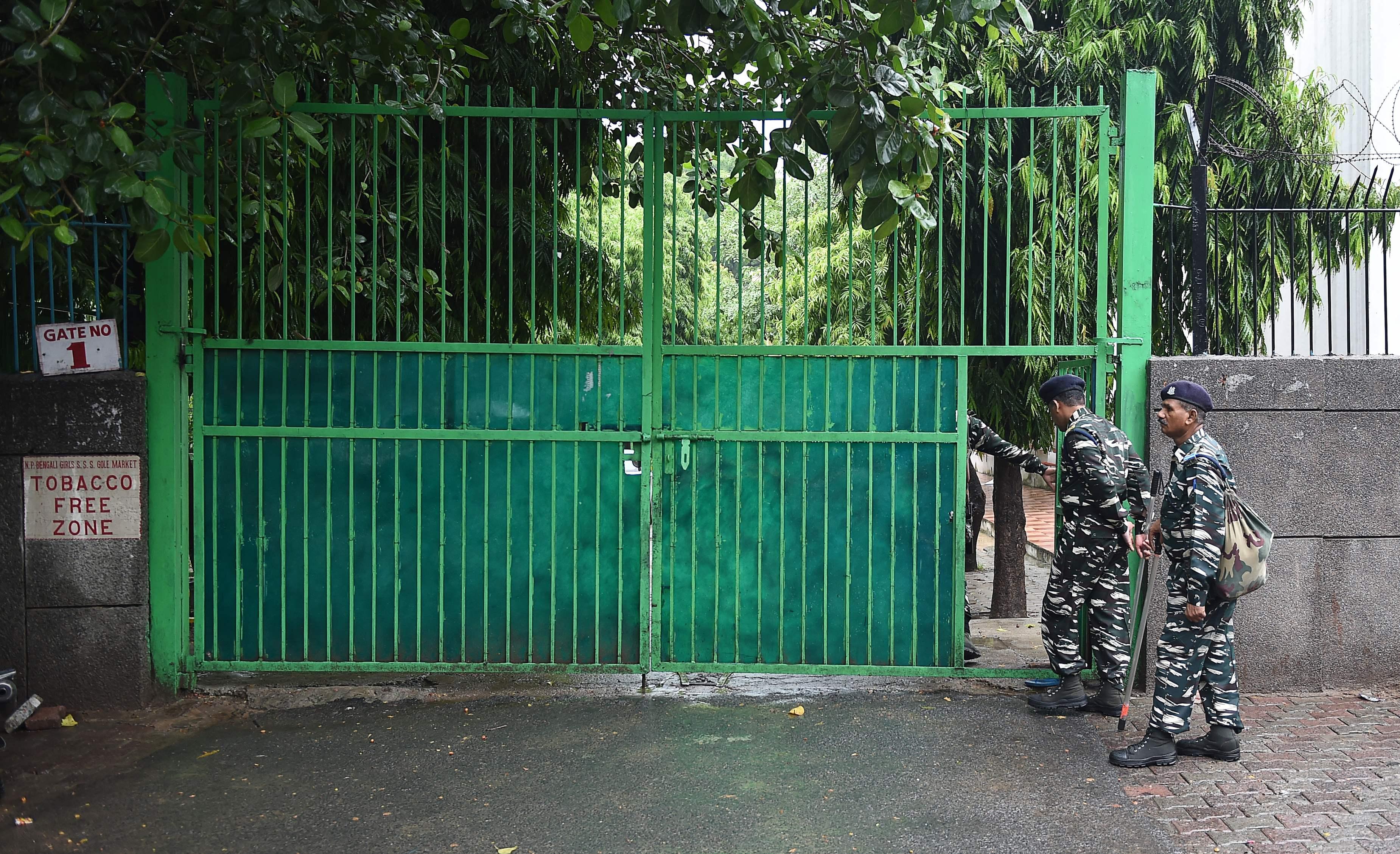 جانب من تواجد الشرطة الهندية