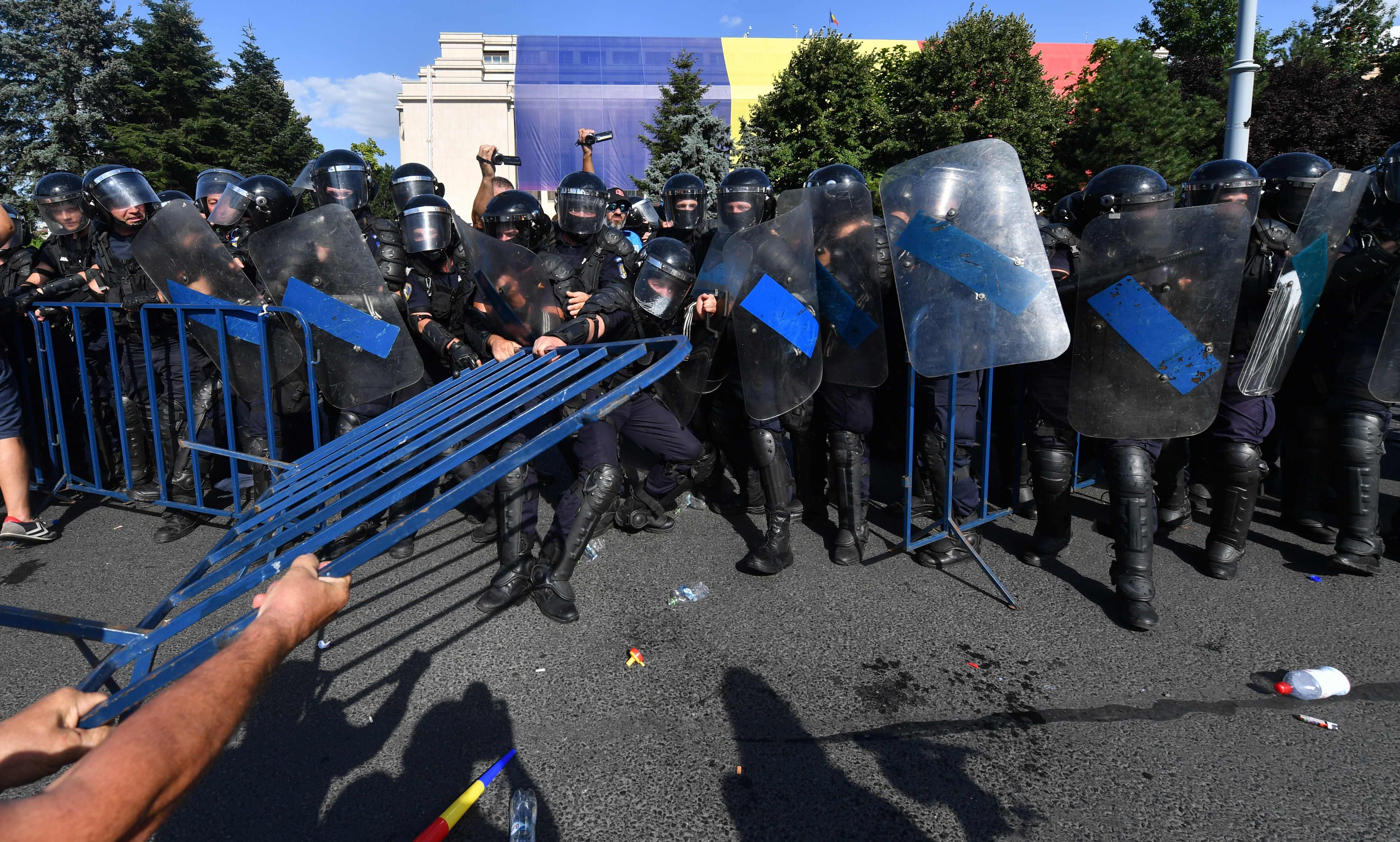 مظاهرات رومانيا