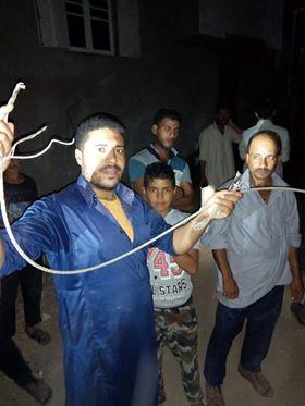 سقوط سلك تيار عالى وسط مساكن قرية أبو شميس (1)